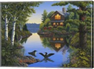 Lake Cabin Fine-Art Print