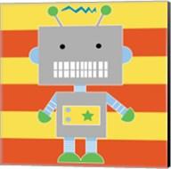 Robot - Stripes Fine-Art Print