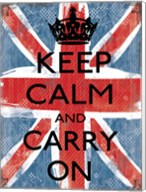 Keep Calm And Carry On 1 Fine-Art Print
