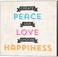 Peace Love Happiness Fine-Art Print