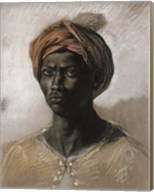 Bust of a Black Man Wearing a Turban, 1826 Fine-Art Print