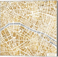 Gilded Paris Map Fine-Art Print