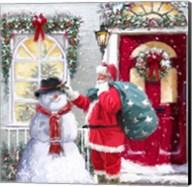 Santa And Snowman 2 Fine-Art Print