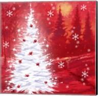 Red Christmas Scene Fine-Art Print