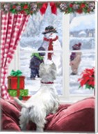 Westie At Window Fine-Art Print