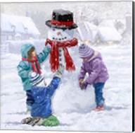 Children Making Snowman Fine-Art Print