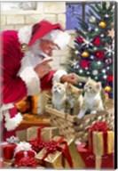 Santa and kittens Fine-Art Print