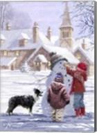 Village Snowman Fine-Art Print