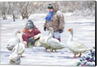 Feeding Geese Fine-Art Print