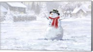 Making Snowman 3 Fine-Art Print