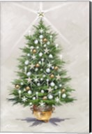Silver Gold Xmas Tree Fine-Art Print