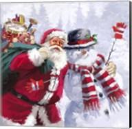 Santa Snowman Fine-Art Print