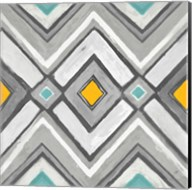 Chevron Tile Black/White II Fine-Art Print