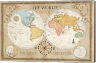 Old World Journey Map Cream Fine-Art Print