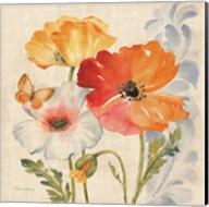 Watercolor Poppies Multi II Fine-Art Print
