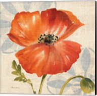 Watercolor Poppies I (Orange) Fine-Art Print