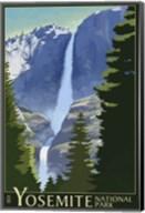 Yosemite Mountains And Trees Fine-Art Print