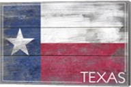 Texas Flag Wood Fine-Art Print