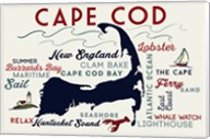 Cape Cod New England Text Fine-Art Print
