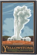 Old Faithful Yellowstone Park Ad Fine-Art Print