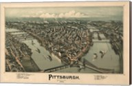 Pittsburgh Map, 1902 Fine-Art Print