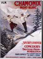 Chamonix Mont-Blanc Sports Fine-Art Print