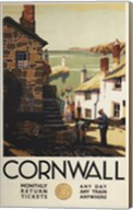 Cornwall Village Train Ad Fine-Art Print