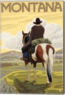 Montana Cowboy On Hourse Fine-Art Print