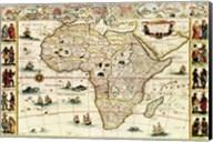Decorative Africa Map Fine-Art Print