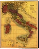 Map of Italy Fine-Art Print