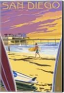 San Diego Beach Ad Fine-Art Print