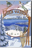 Lake Tahoe Skiiers Ad Fine-Art Print