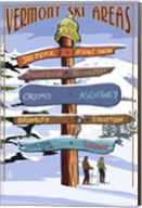 Vermont Ski Areas Signs Fine-Art Print