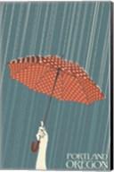 Portland Oregon Umbrella In Rain Fine-Art Print