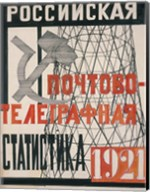 Cover Design For Russian Postal-Telegraph Statistics, 1921 Fine-Art Print
