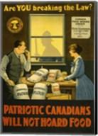 Canadians Will Not Hoard Food Fine-Art Print