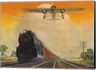 Giant Conquerers of Space and Time Pennsylvania Railroad Fine-Art Print