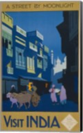 A Street by Moonlight - Visit India Fine-Art Print