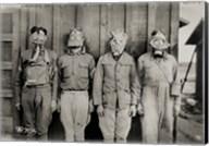 American, British, French & German Gas Masks Fine-Art Print