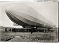 Blimp, Zeppelin No. 3, on Ground Fine-Art Print