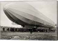Blimp, Zeppelin No. 3, on Ground Fine-Art Print