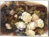 White Roses in Basket Fine-Art Print