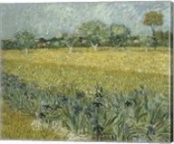View of Arles with Irises Fine-Art Print