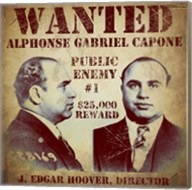 Al Capone Wanted Poster Fine-Art Print