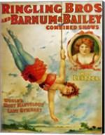 Miss Lietzel Barnum Bailey Fine-Art Print
