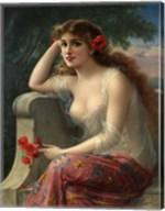 Girl With A Poppy Fine-Art Print