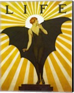 Life Magazine Cover Bat Girl Yellow Fine-Art Print