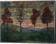 Four Trees, 1917 Fine-Art Print