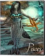 Art Nouveau Zodiac Pisces Fine-Art Print