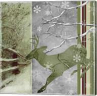 Country Christmas Deer Fine-Art Print